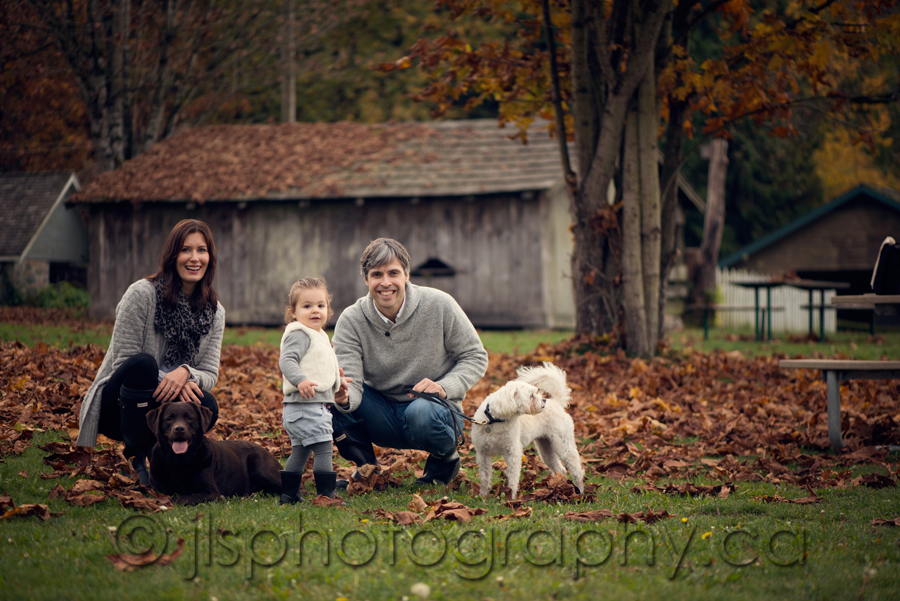 Stewart Farm House Photos, Family Photos, Surrey Family Photographer, Vancouver Family Photographer, Vancouver Child photographer, Langley Child Photographer, Langley Baby Photographer, Surrey Child photographer, Surrey Family photographer, Foggy day family photos, Fall Family Photos, Fall Colours, Outdoor Family photos in the fall, BC Fall Leaves, Playing in the leaves, Hunter Boots, jlsphotography