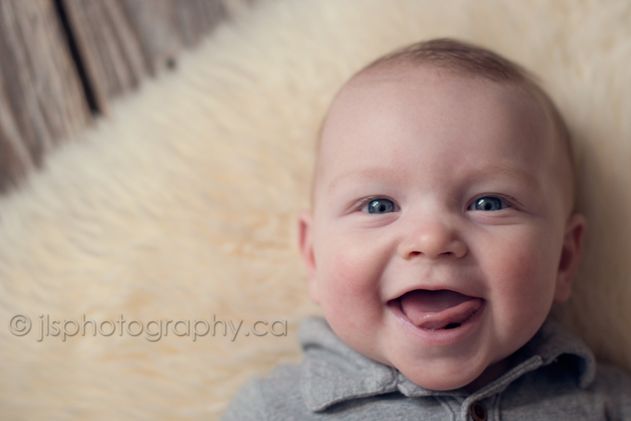 Baby smiling at 5 months