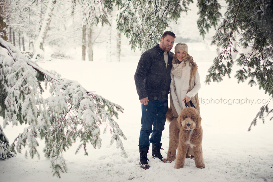 Winter wonderland, outdoor Vancouver snowy lifestyle photos, snow day