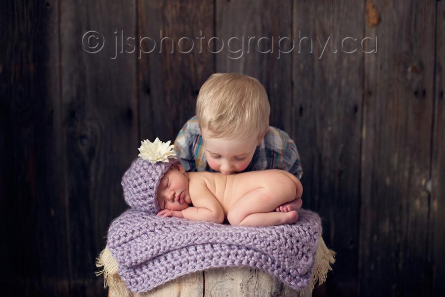 Big brother kisses